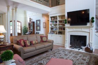 Custom Home Clemson Traditionallakehouse Livingroom6