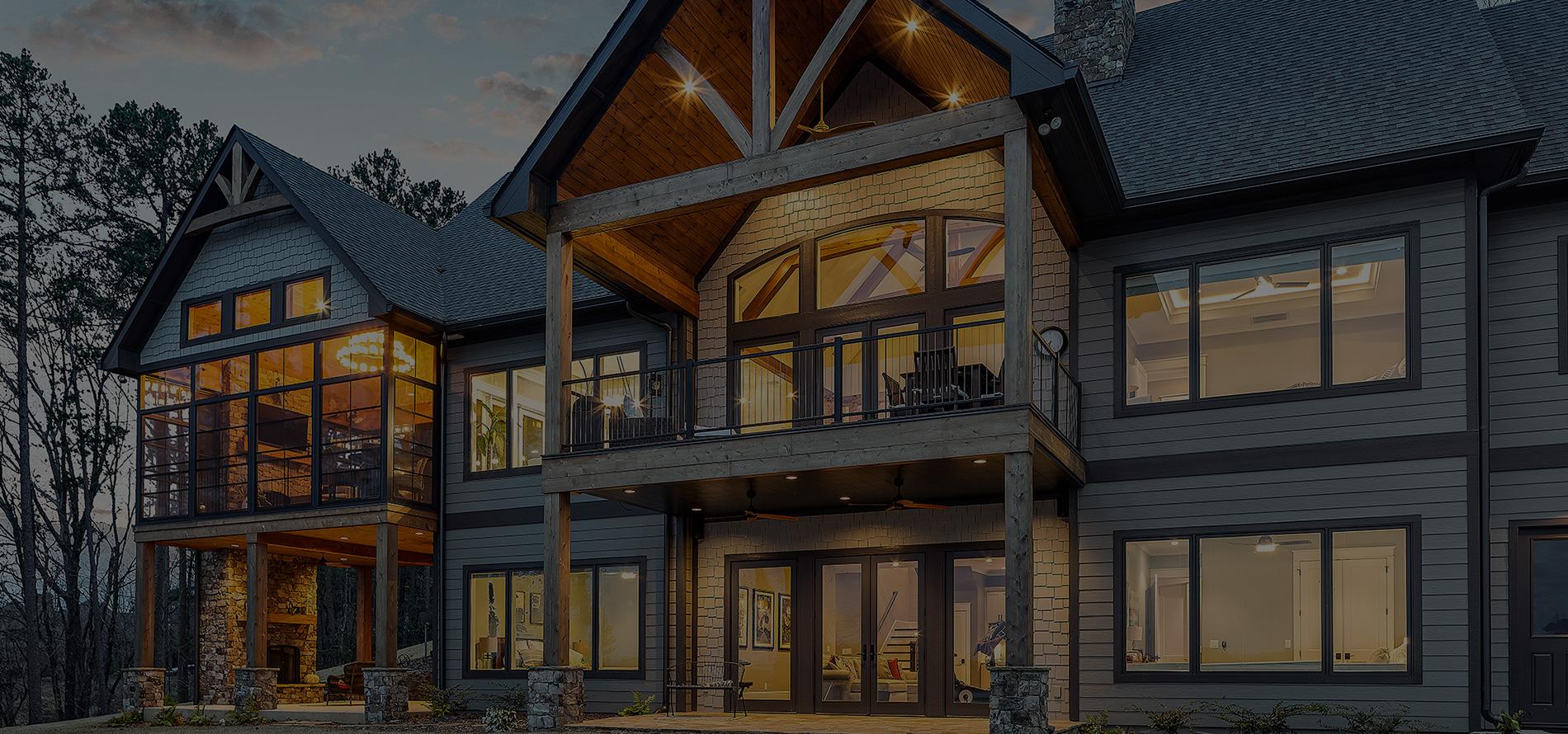 custom home Hickory classic lake house