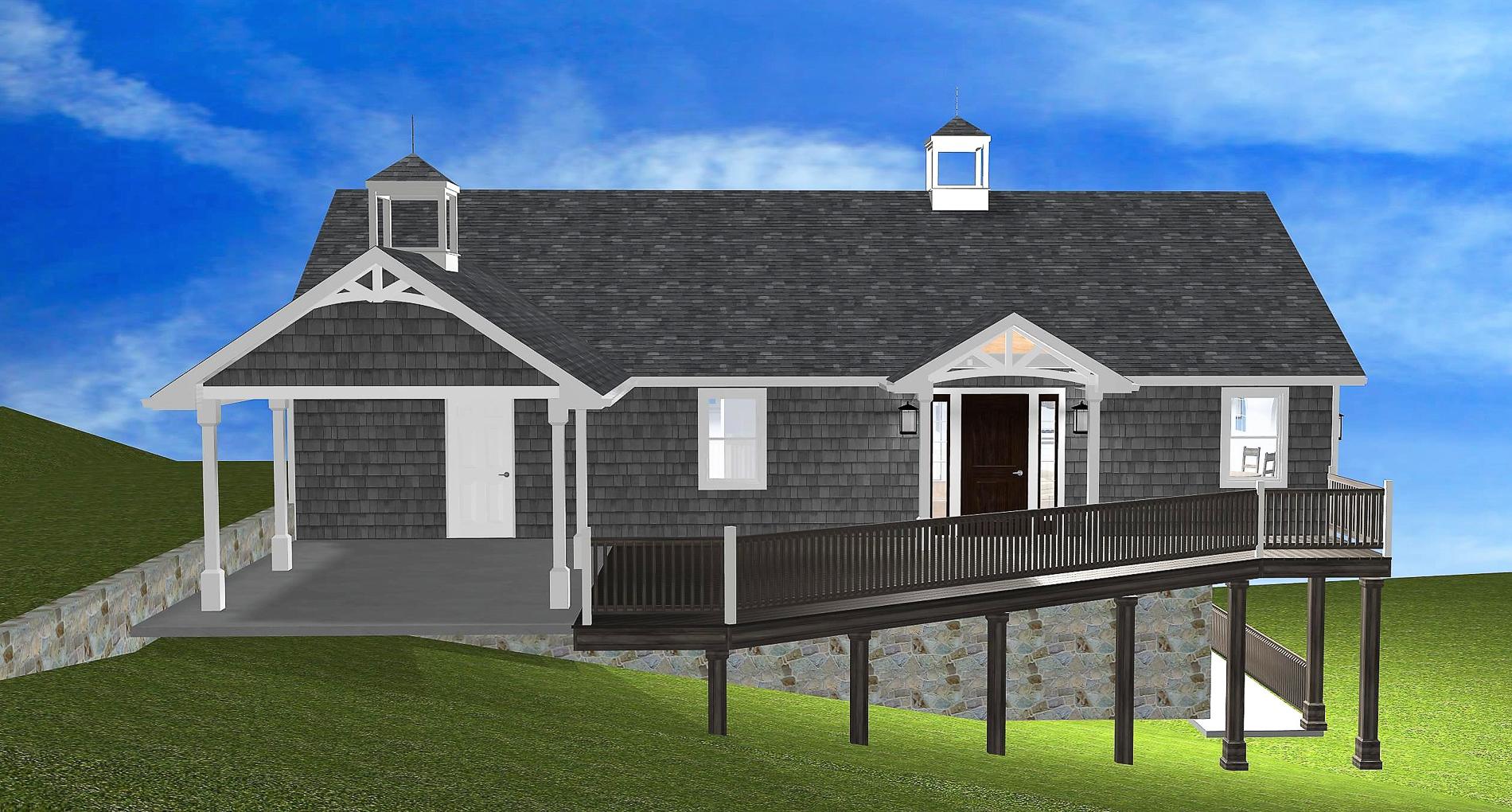 Lake Hickory Cottage Custom Home