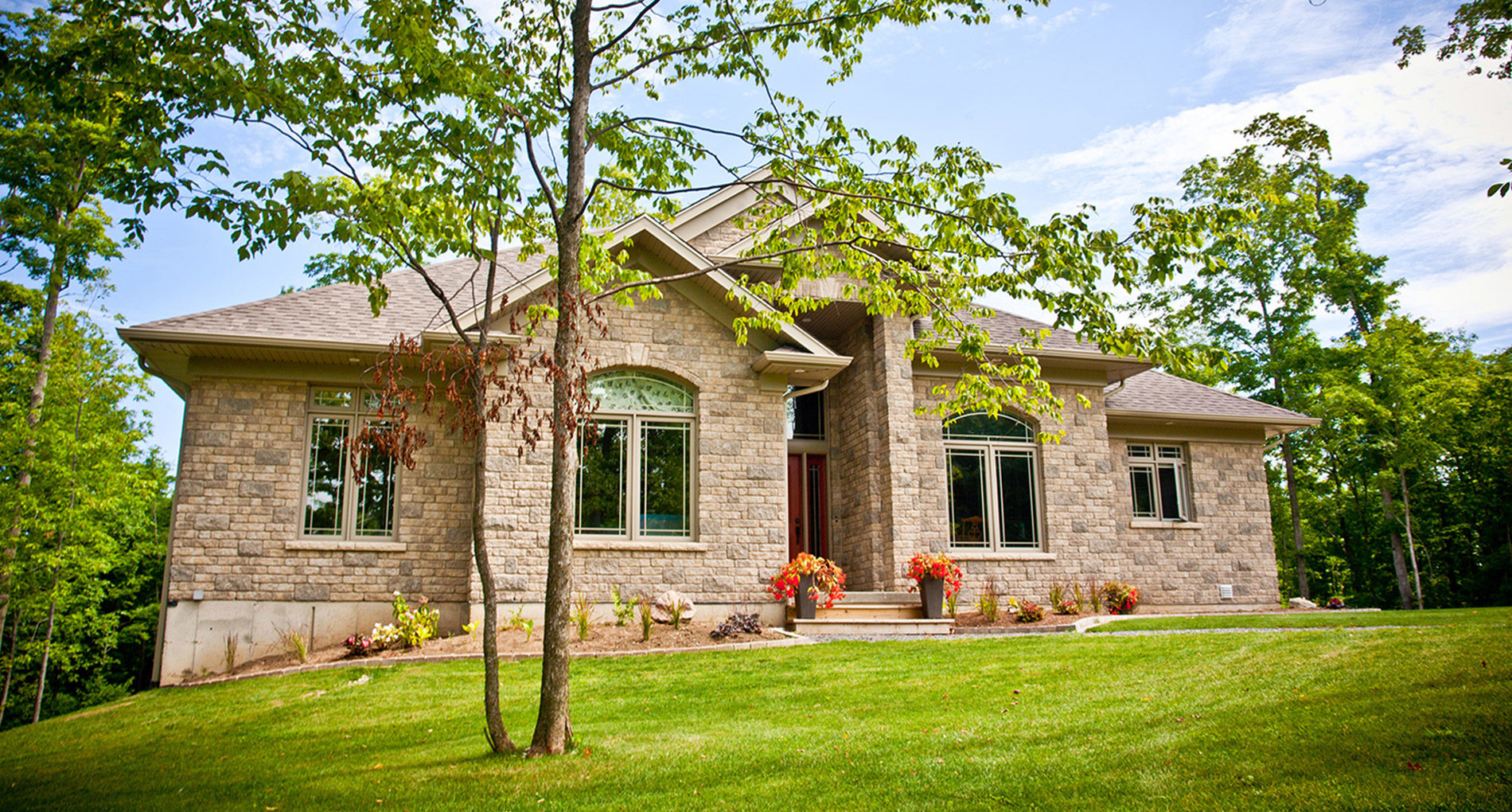 Alair Homes Grey Bruce Custom Home Builders Stonework