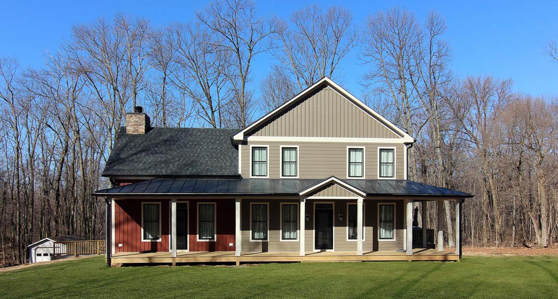 Custom Farmhouse With Wraparound Porch