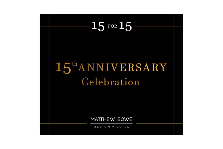 15 for 15 Anniversary Celebration