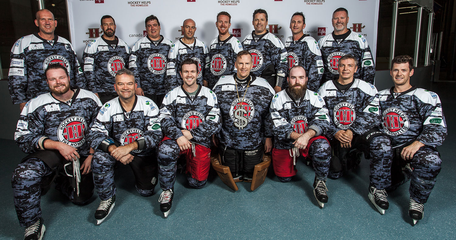 Team Alair Competes in Hockey Helps the Homeless