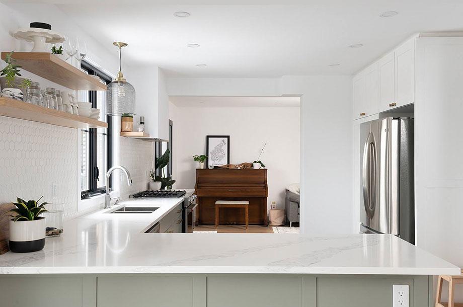 All White modern kitchen renovation