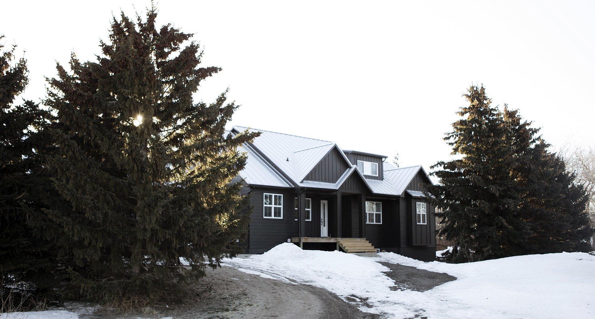 Snowy Saskatoon Land