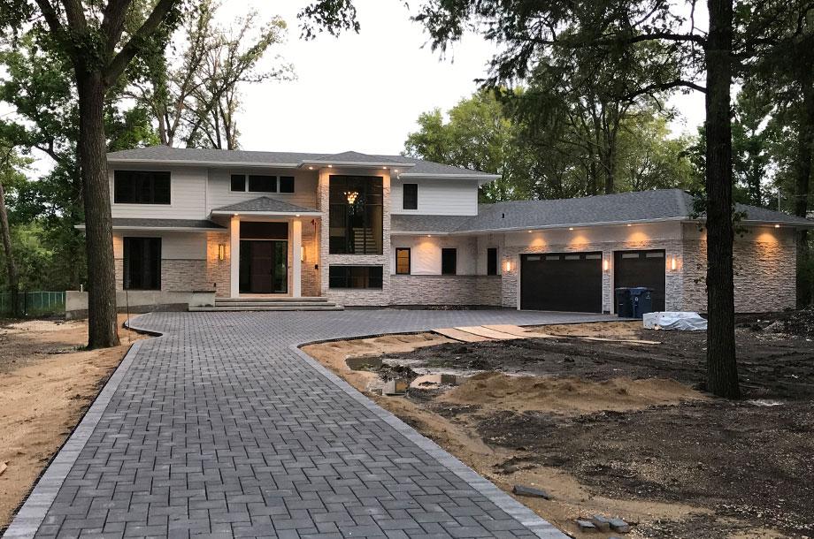 Winnipeg custom home under construction