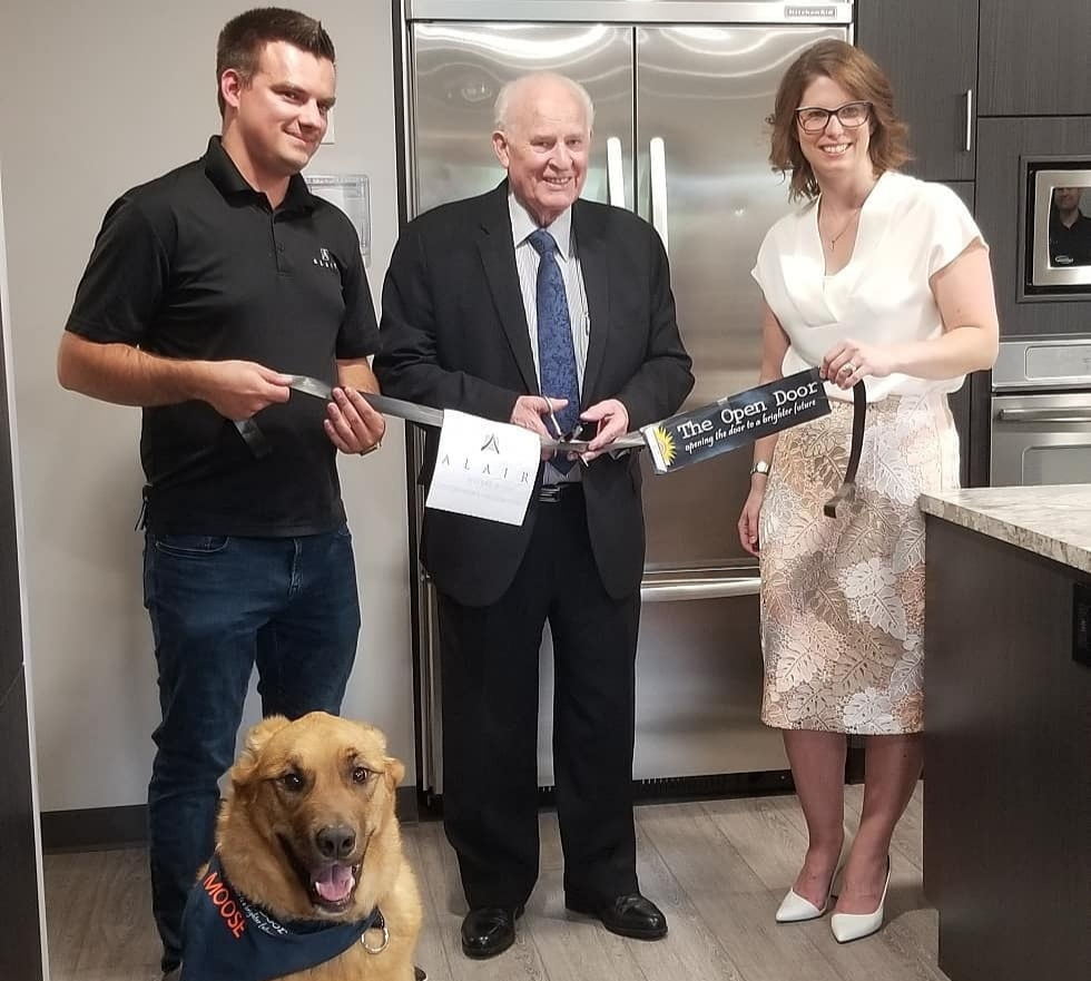 alair homes with camrose mayor and camrose open door Jessica Hutton