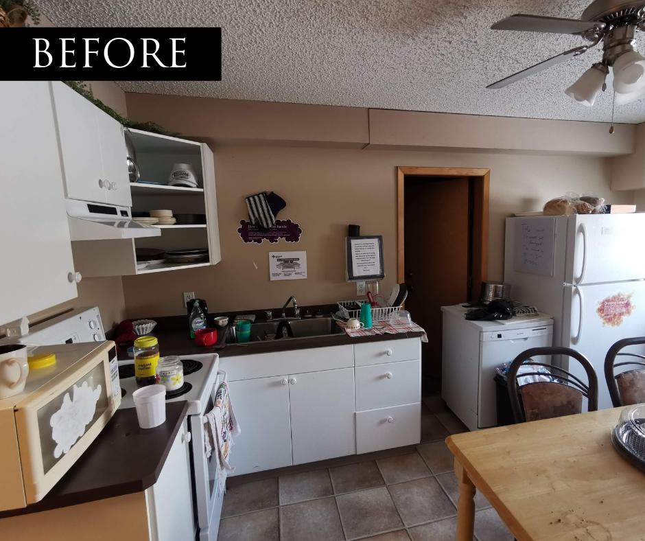 camrose shelter renovation kitchen before
