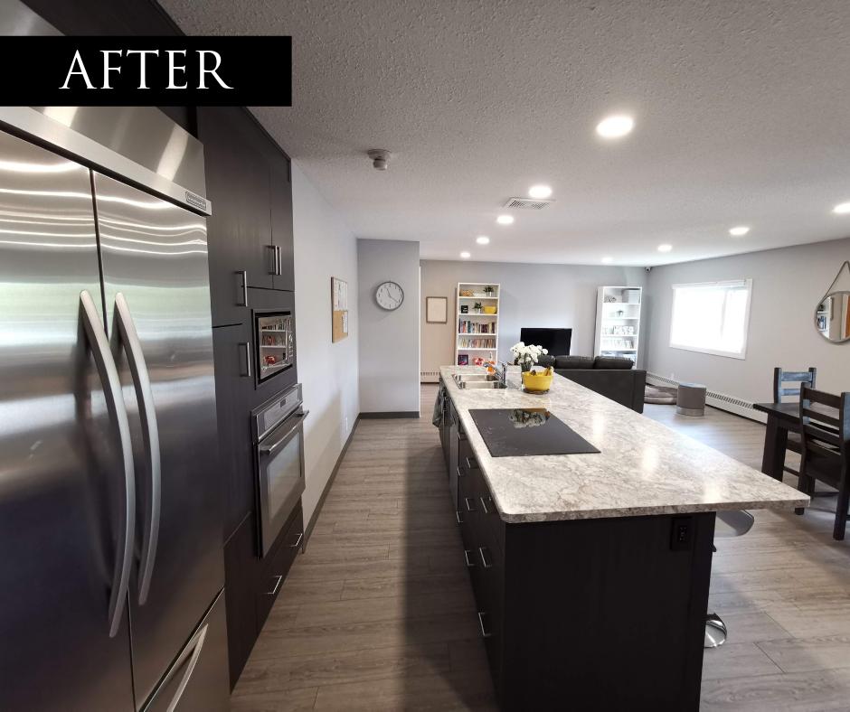 camrose shelter renovation kitchen after