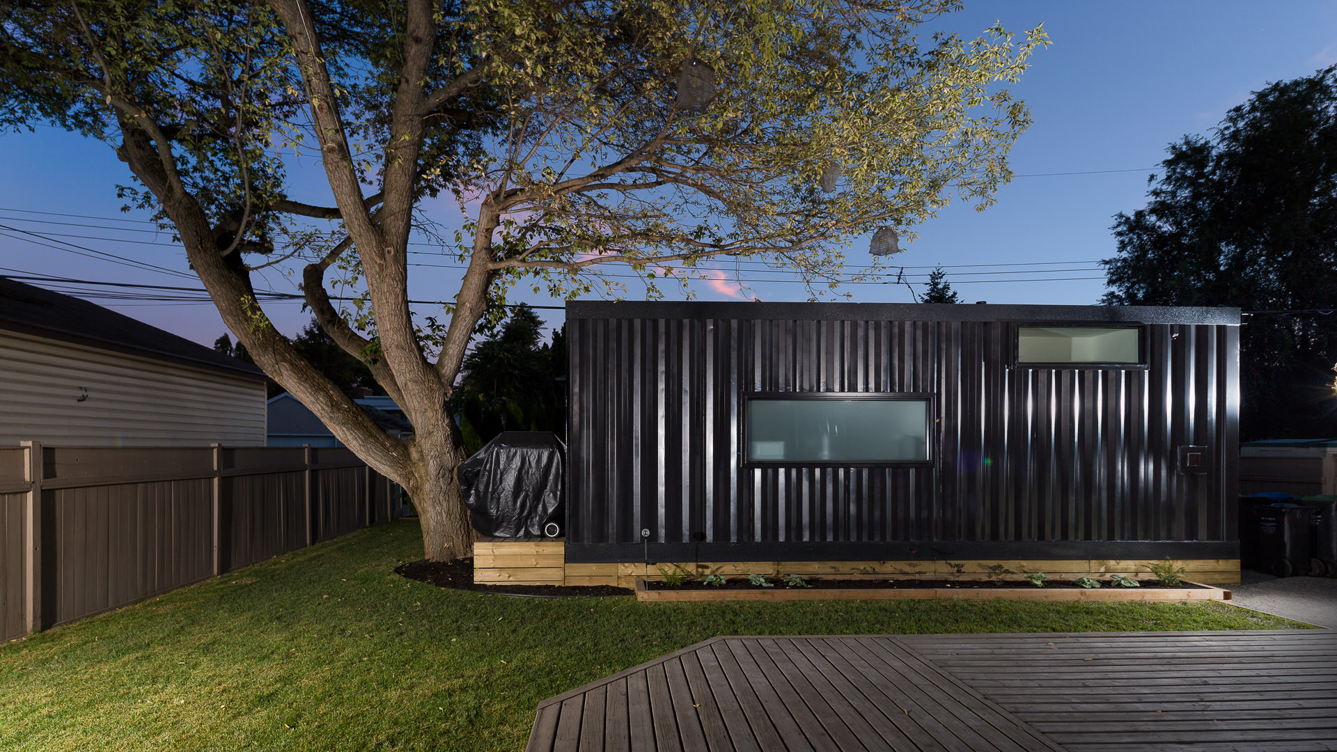 Exterior of modular home