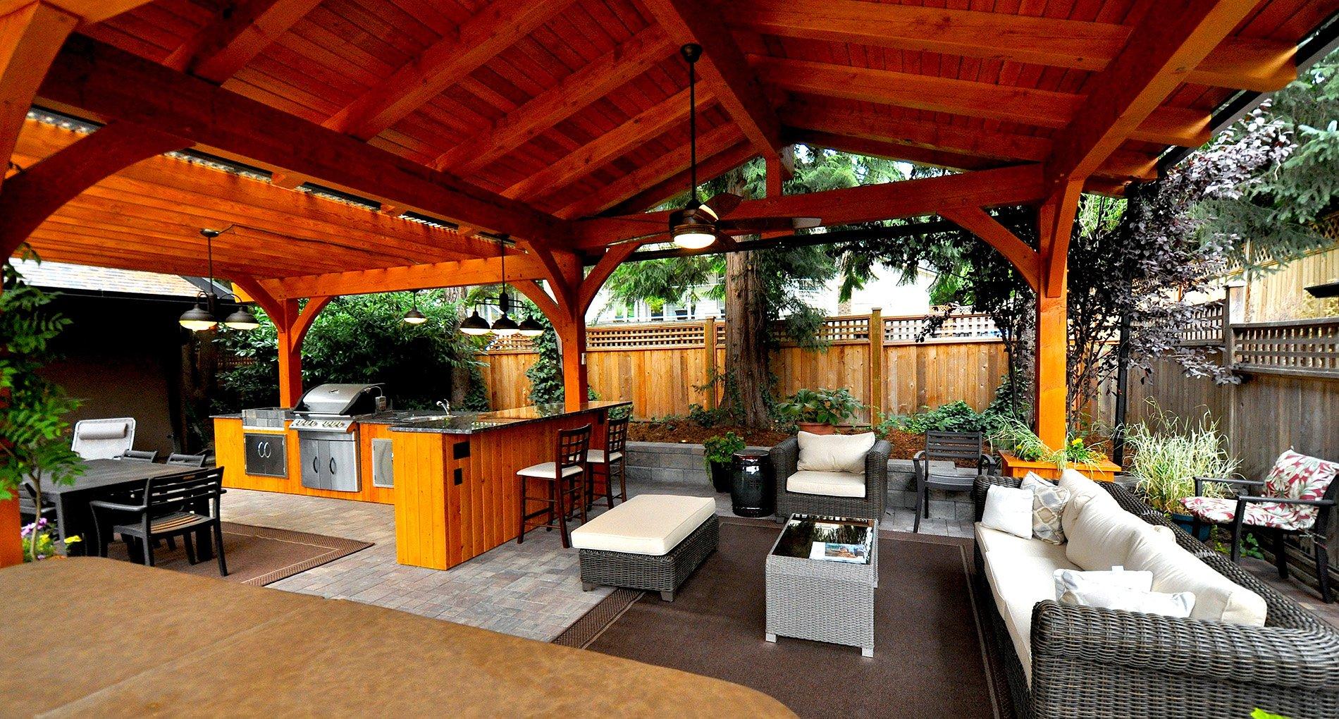 Cedar Timber Outdoor Kitchen