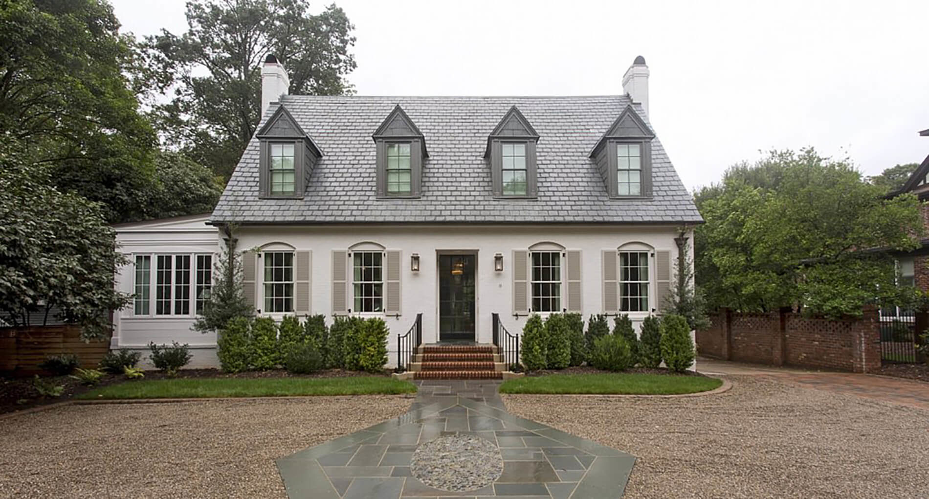 custom white cottage in charlotte