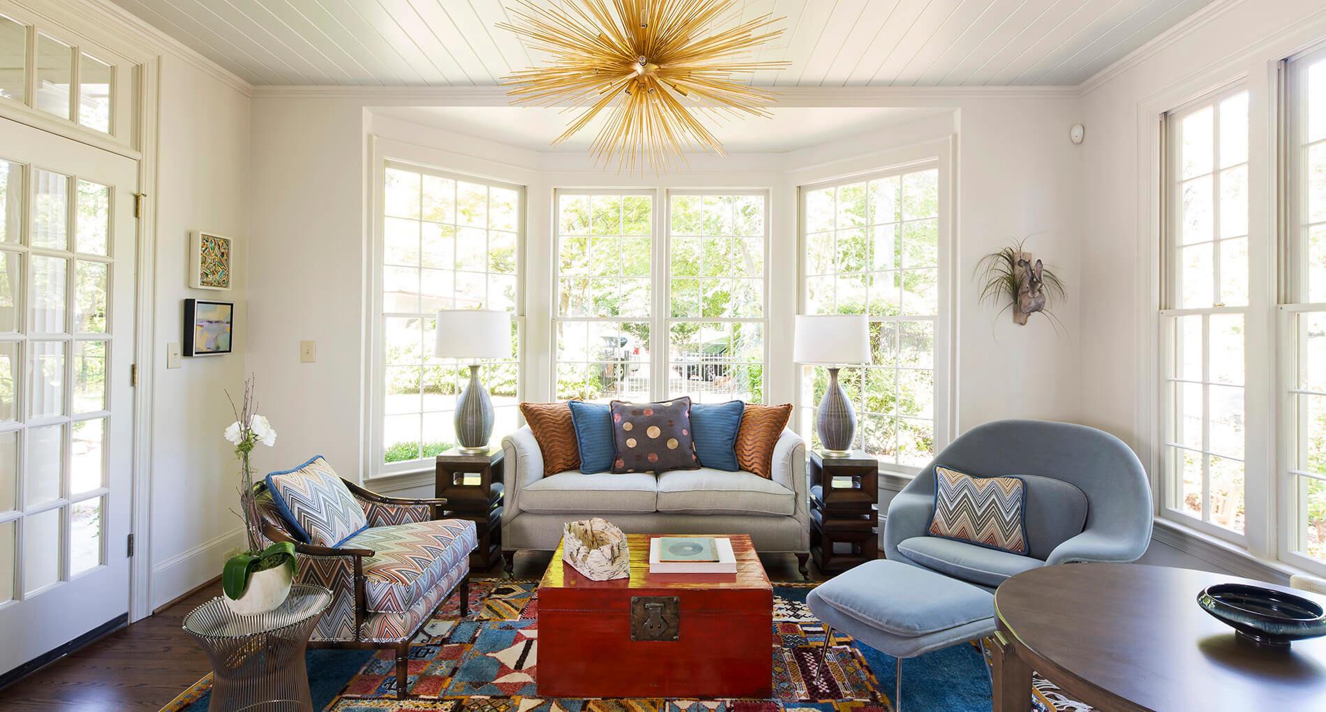 living room home remodel in charlotte