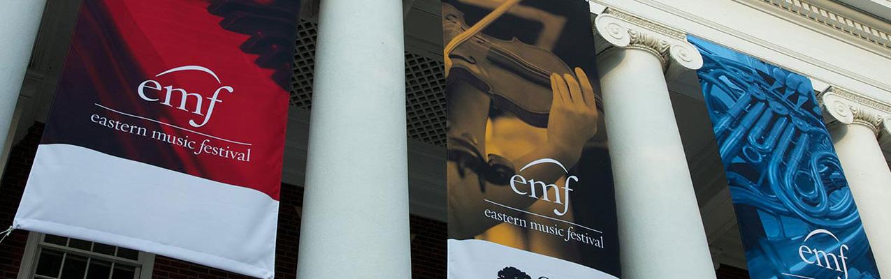 Eastern Music Festival Banners. Greensboro, NC