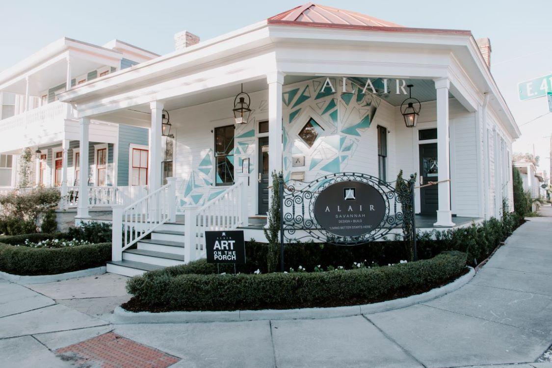 Art on the Porch of Alair Homes Savannah