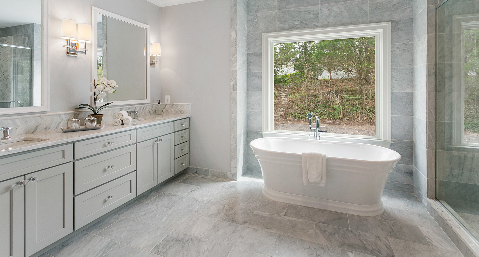 Astonishing Bathroom Remodeling Gallery Alair Homes Arlington Home Interior And Landscaping Elinuenasavecom