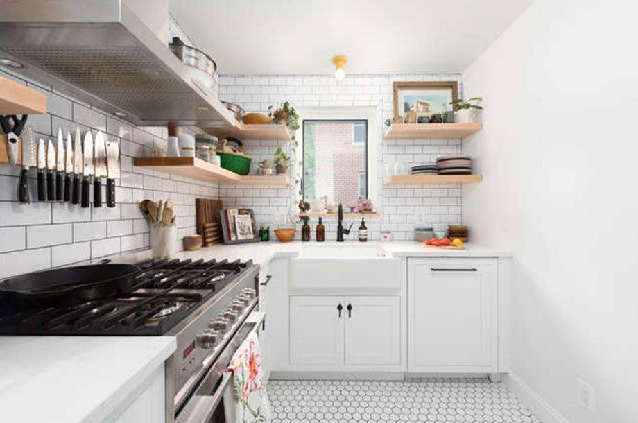 All white modern kitchen remodel