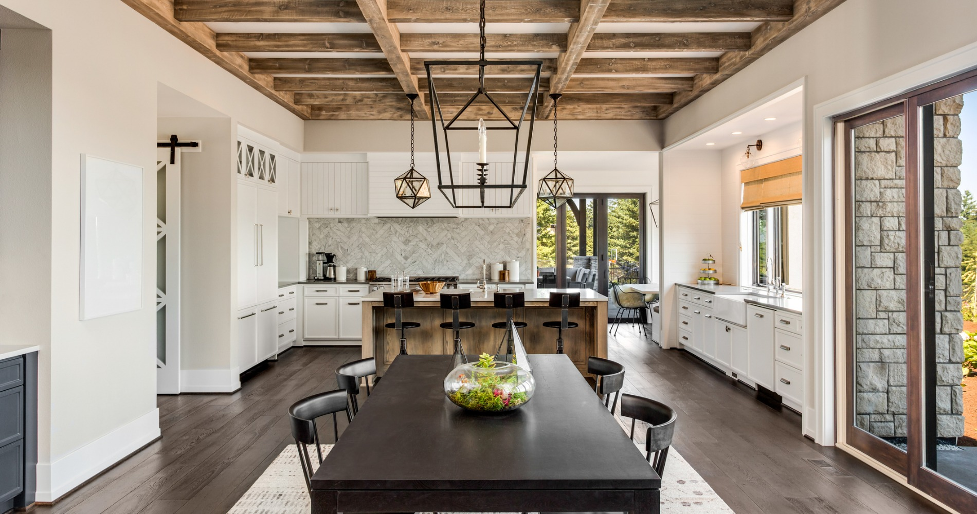 A luxury kitchen in a custom home