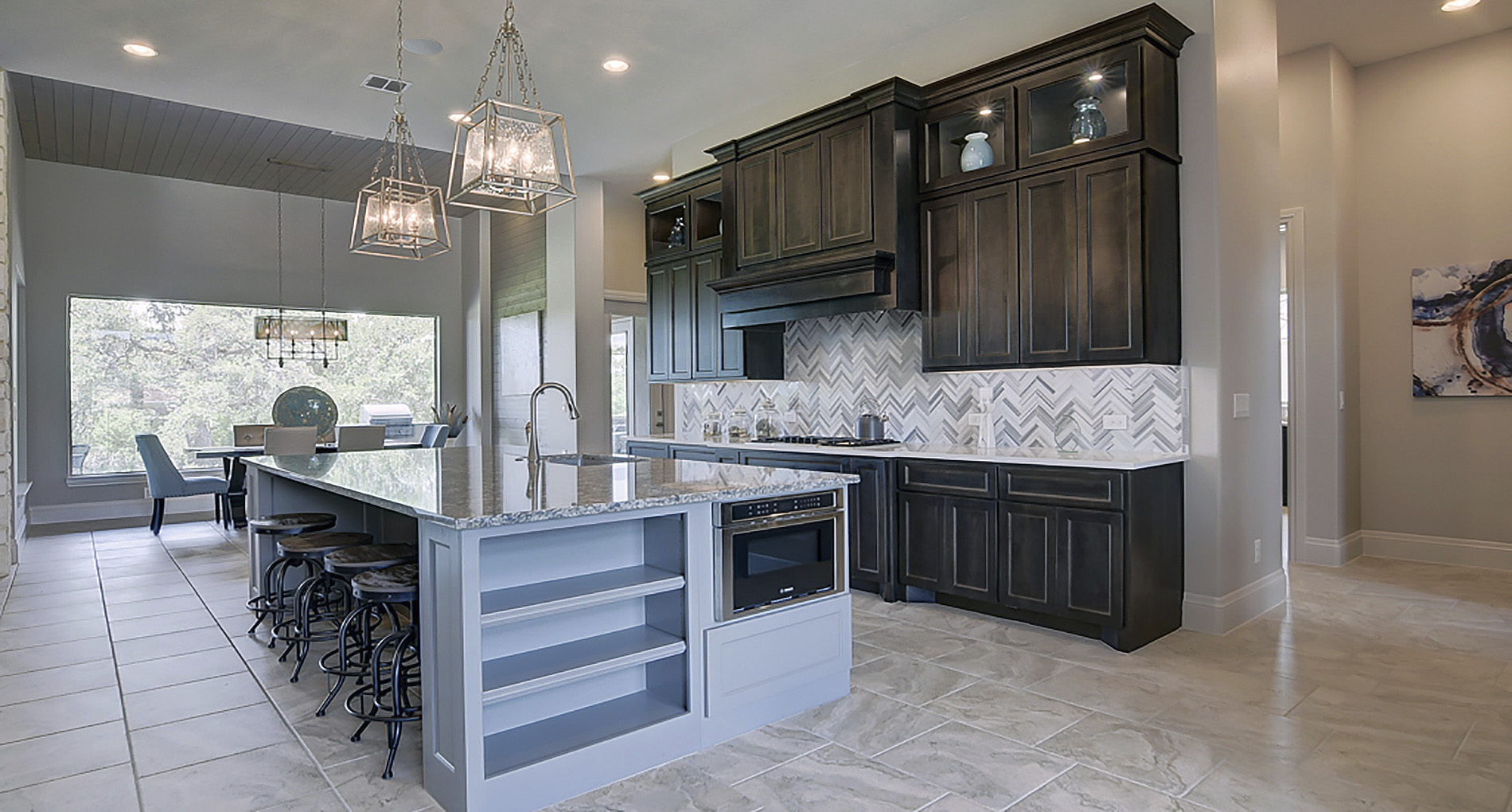 Blue Details in New Braunfels Kitchen