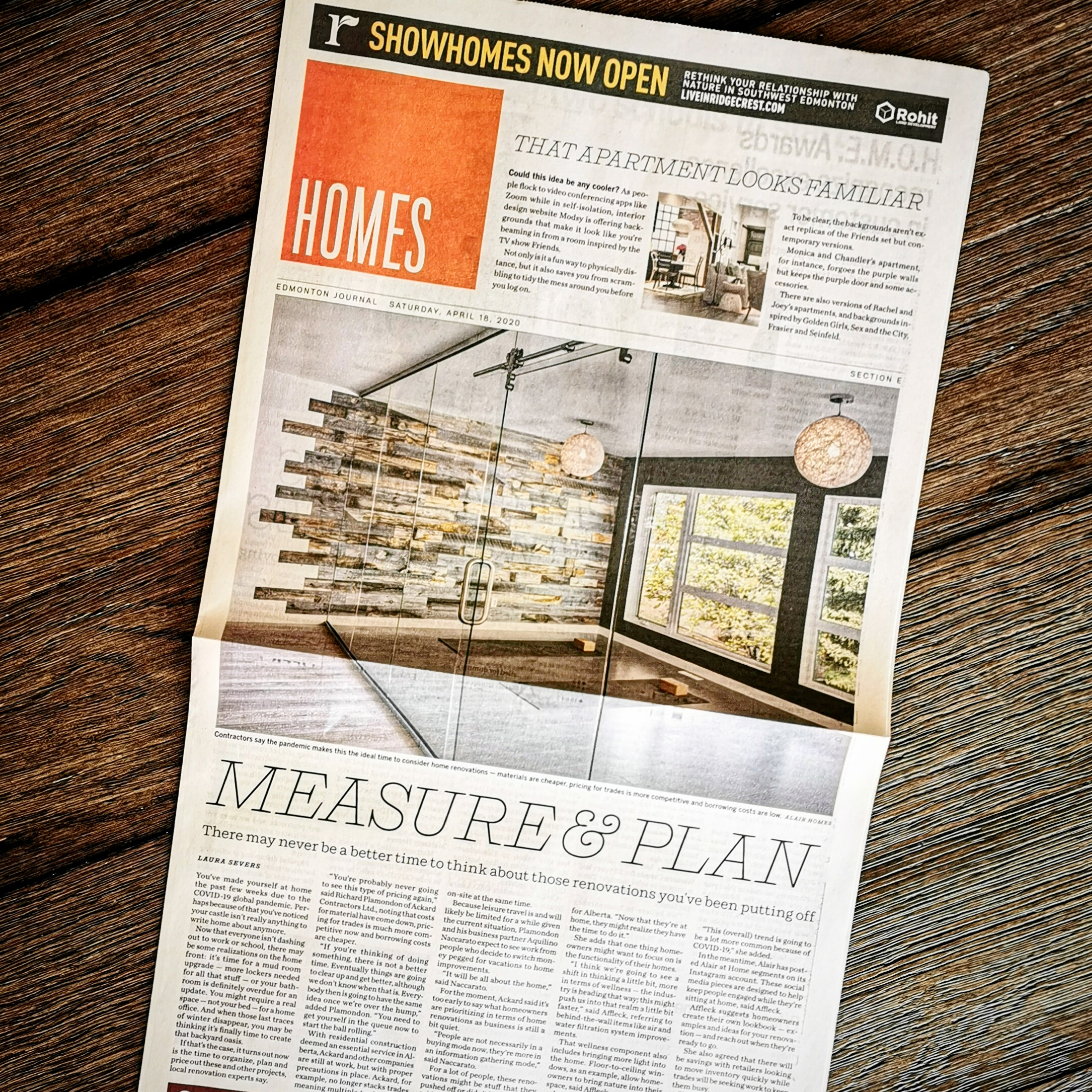 Alair in the News: Time at Home Inspires Renovations